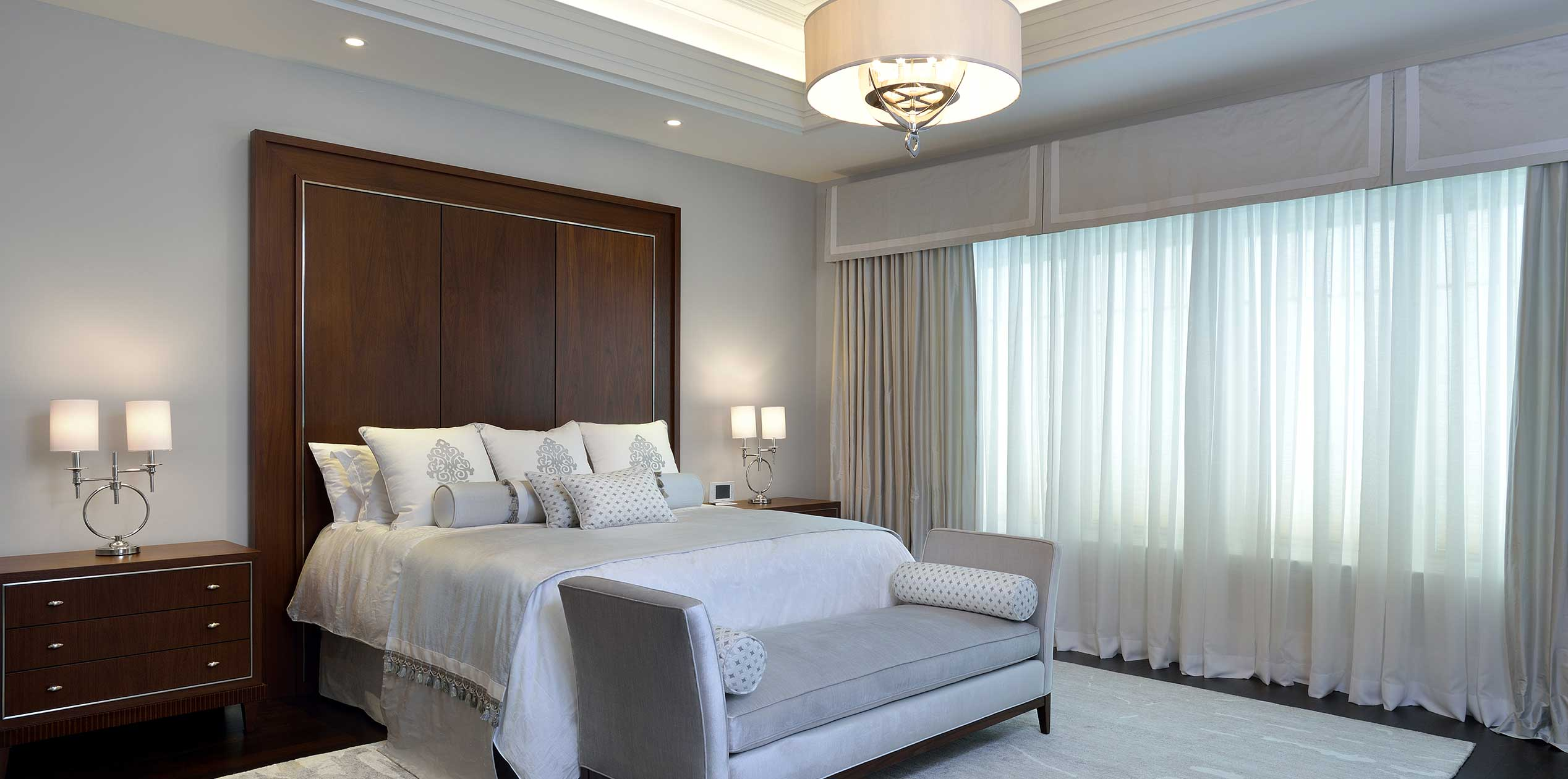 b Transitional Master Bedroom Suite