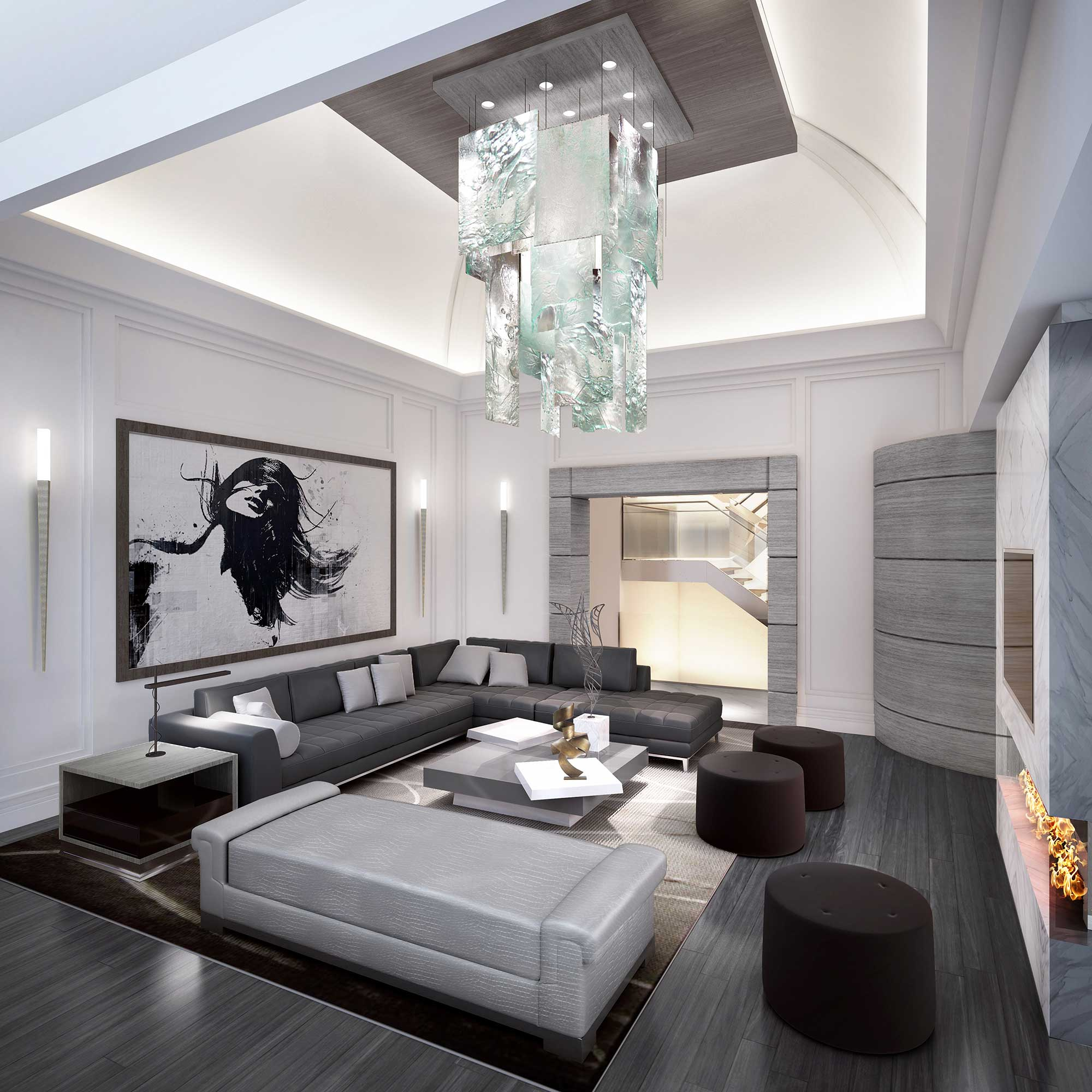 Contemporary Great Room 2