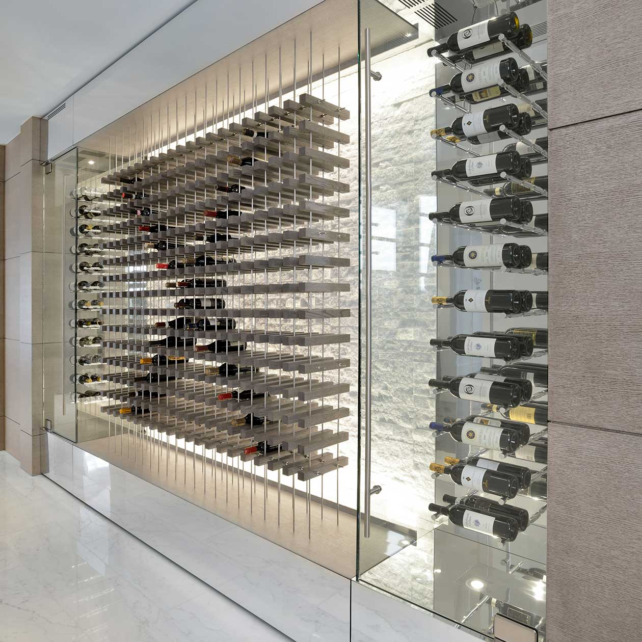 d Contemporary Wine Storage Feature
